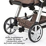 ABC Design Kombi-Kinderwagen Set Turbo 4 – inkl. 3in1 Tragewanne für Neugeborene, Liegefunktion, ausklappbarem Sonnenverdeck, Schieber höhenverstellbar, Sitz drehbar, große Räder – Bean - 8