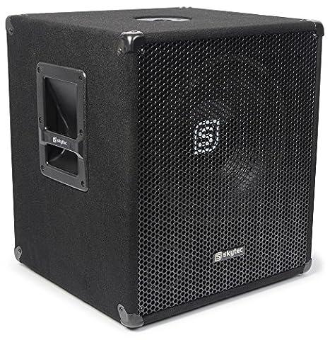 Skytec SMWBA15 Active subwoofer 300W Noir - subwoofers/caissons de basses (Active subwoofer, 300 W, 20 - 200 Hz, 40 - 20000 Hz, 8 Ohm, 38,1 cm (15