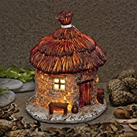 Garden Glows Fairy Dwelling - THE HOME OF GODWIN CORNSNAKE - Fairy House - for indoor outdoor use - with 3 solar powered LEDs