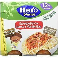 Hero Nanos Espaguetis con carne y verduritas escondidas - Paquete de 2 x 250 g - Total: 500 g