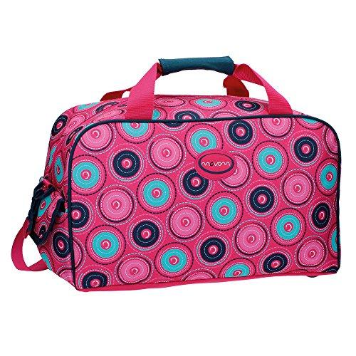 Movom Circles Bolsa de Viaje, 25.88 Litros, Color Rosa MOVOM