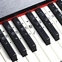 Pegatinas para teclado o piano para teclado de 49/61/76/88, juego completo de pegatinas para teclas blancas y negras, transparentes y extraíbles, perfectas para niños y principiantes