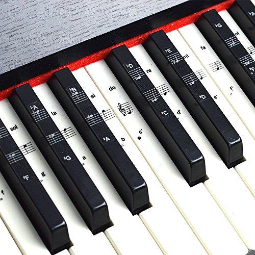 Pegatinas teclado piano teclado 49/61/76/88, juego