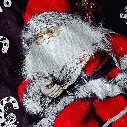 Festlich Weihnachtsmann Claus Weihnachten Damen Schwarz S-2XL Muskelshirt | Wellcoda Weiß