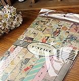 Vintage Scrapbook Paper Papier Aufkleber 14 teilig Set Motivpapi
