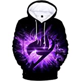FLYCHEN Men's Hoodies Inspired by Japanese Anime Fairy Tail Unisex Pullover Sweatshirts Natsu Gray Erza Lucy Fan Cosplay