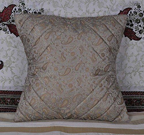 Ethnic Handmade Paisley Arbeit Dekorative Silk Kissenbezug, 40x 40cm