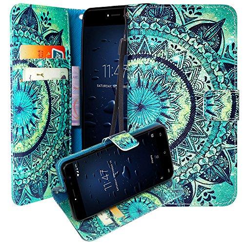 CMID CUBOT Note Plus Hülle, PU Leder Brieftasche Handytasche Flip Bookcase Schutzhülle Cover mit [Kartensteckplatz] [Magnetverschluss] [Ständer] [Handschlaufe] für CUBOT Note Plus 5,2 Zoll (A-03)