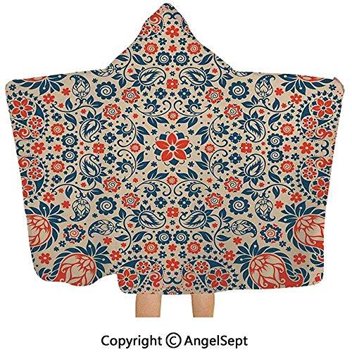 Gustave Tomlinson Mit Kapuze Decke, Arabeske-Verziertes mit Blumenmuster-kulturelles Volkspersisches nahöstliches Druck-rotes beige Blau