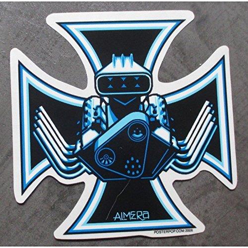 hotrodspirit-sticker-croix-de-malte-v8-big-block-autocollant-auto-hot-rod