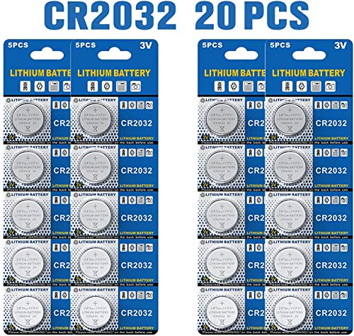 Batteria cr2032 al litio 3v, pulsante a bottone elettronico per calcolatrici giocattoli (20 pezzi)