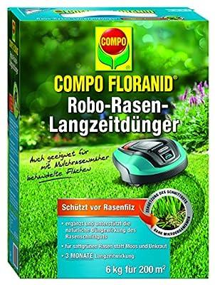 Compo Rasenpflege Floranid Rasen-Robo Langzeitdünger 6 kg für 200 m², blau von Compo - Du und dein Garten