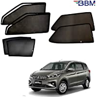 BBM Magnetic Black Sun Shades Curtains 02 Front Full with Zip, 02 Rear & 02 Back Side Windows Full Without Zip for…