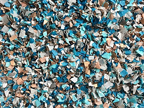 Peacock Blue Turquoise Teal Rose Gold Grey Confetti Party Decorations Baby Shower Wedding Throwing Table Decor Bulk Wholesale InsideMyNest (25 Handfuls)