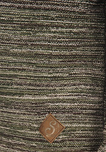 SOLID Melker Herren Kapuzenpullover Strickhoodie aus 100% Baumwolle Meliert Duffel Bag Green