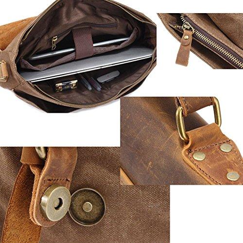 Antique Future Gear , Borsa Messenger  Multicolore marrone marrone