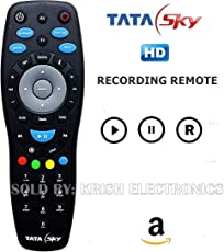 Tata Sky Universal HD+ Plus Recording (Play,Pause, Rewind, Forward & Record Feature) Remote (Works with Tv as well)