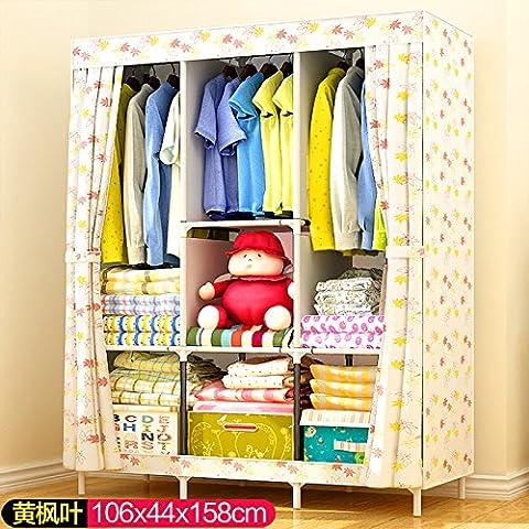 WJP modernos armarios simplificada de tela de refuerzo de bricolaje armario ropero W-644