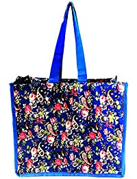 Vegetable Shopping Bag/Fruits Shopping Bag/Groceries Shopping Bag With Multi Pockets (14x12.5x7 Inch) - Blue