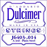 D\'Addario J6403 .014 Plain Steel Single String for Dulcimer