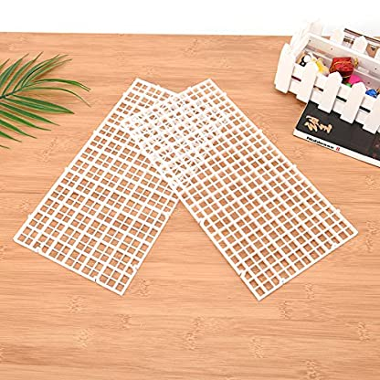 CCCYMM 4 Pcs Grid Divider Tray Egg Crate Louvre Aquarium Fish Tank Bottom Isolation,Black 4