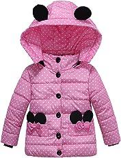 Kobay Kinder Baby Mädchen Dicken Mantel Gepolsterte Dot Bow Winter Jacke Oberbekleidung