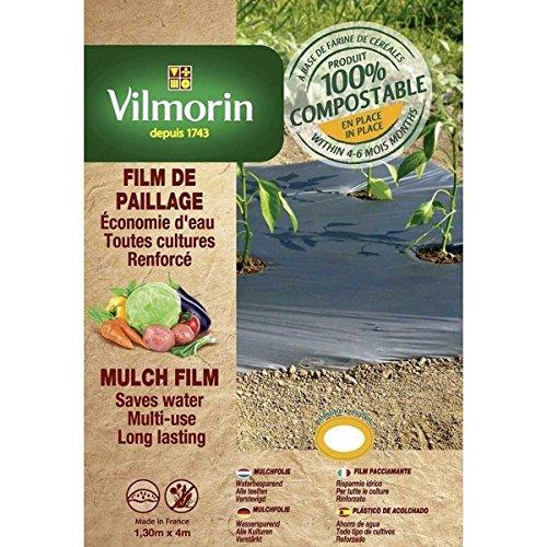 Vilmorin - Film de paillage toutes cultures renforcé - farine de céréales - 1,30m x 8m - 35µm