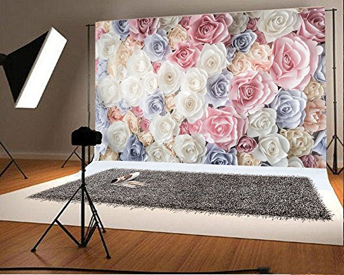 Hintergrund Bunt Blume Blumenwand Trendiges Blumenmuster Abstraktes DIY Fotografie Hintergrund Fotoshooting Hochzeit Party Portraitfotos Fotografen Kinder Fotostudio Requisiten ()