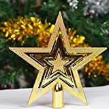 Weihnachtsbaum Top Pentagon Star Xmas Ornaments Dekoration