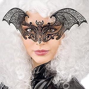 Carnival Toys 00729 - máscara para adultos, metal, negro