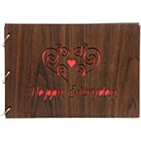 Sehaz Artworks HappyEveryday Scrapbook Photo Albums for 4x6 and 5x7 Photos for Baby Birthdays, Couples Husband Wife (30…