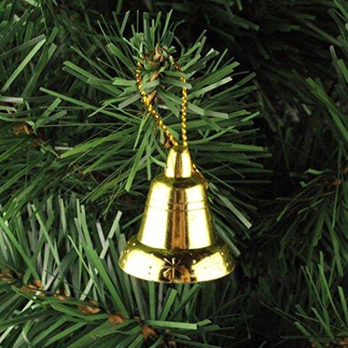 janly® 9Jingle Bells klein lose Perlen Festival Party Anhänger/Baum/DIY Weihnachts Crafts Zubehör, plastik, gold, 9Pcs (Kegel-party-hüte Weiß)