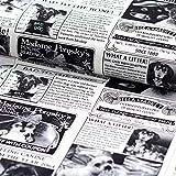 Brittschens Stoffe und Zutaten Stoff Baumwollstoff Timeless Treasure Bad to The Bone Newsprint Hundezeitung Meterware Stoff zum Nähen