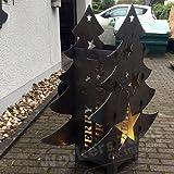 Weihnachtsbaum Feuerkorb Lichtsäule Metall Weihnachten Dekoration Wunschmotiv