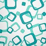 WANDfee® Wandtattoo 64 Retro Vierecke mit FARBWUNSCH 2farbig Farbe helltürkis Türkis