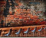 yxhflo Kids Wall stickers3D città di Cemento Kids Wall Stickers City Kids Wall Stickers Lounge Ktv Lounge Coffee Shop Sfondo, Italia ha Un profilo distinto Damasco/Flat []