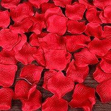 100 pz Petali Fiori di Rosa Rosso Artificiale Confetti Decor per Vetrine Servizi Fotografici Layout di Scena Nozze Festa
