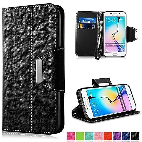 Coque Samsung Galaxy S6 Edge, Vakoo Galaxy S6 Edge Coque Case Housse Etui TPU Bumper Cover pour Samsung Galaxy S6 Edge (Noir)
