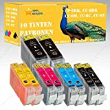 10 x Tintenpatronen kompatibel zu Canon Pixma IP3300 / IP3500 / IP4200 / IP4200X / IP4300