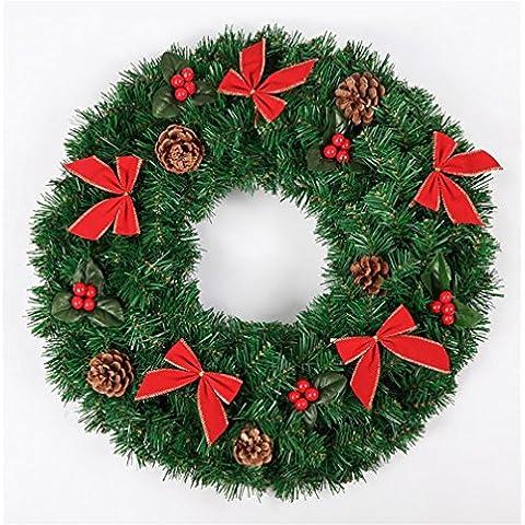 G&M Corona di Natale 50 / 60cm parete Porta Hanging ornamenti Xmas Party Garland Decor , 50cm red /1.6kg
