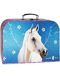 Kinderkoffer Groß Pferd 34 cm Tier Puppenkoffer Koffer Kinder Puppen Autokoffer - Pappkoffer