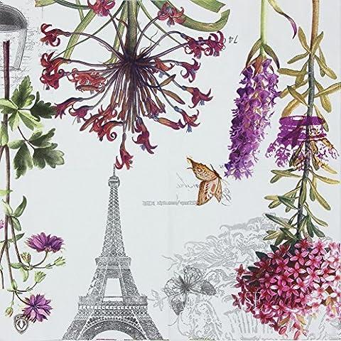 Alink Paper Napkins Paris Eiffel Design Luncheon Party Napkins Serviettes, 20 Count, 13 x 13 by ALINK