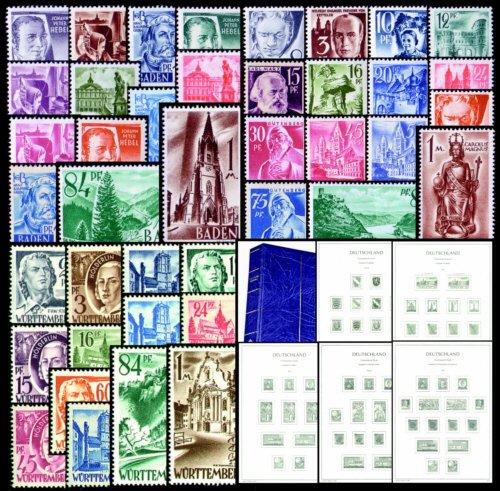 Goldhahn Französische Zone 1945-1949 LT-Vordruckalbum mit 3 Sätzen - Briefmarken für Sammler