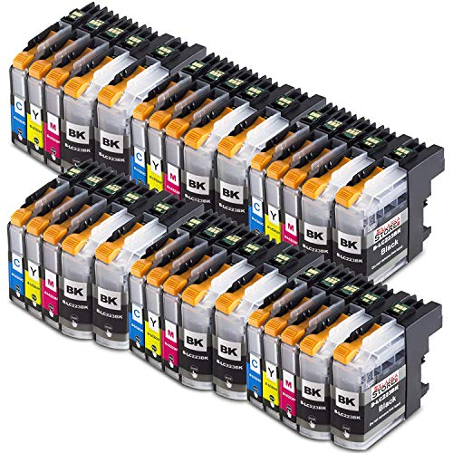 30 Druckerpatronen Komp. für Brother LC223xl LC-223 LC225 XL für Brother MFC-J4420DW J4620DW J4625DW J5320DW J5620DW J5720DW J5625DW J480DW DCP-j4120DW
