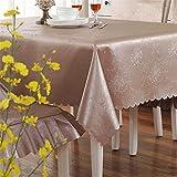 Verdickte Tischdecke wasserdicht Ölfreie Reinigung Tischdecke Esstisch Stuhl Kissen Set Square Tee Tabelle TV-schrank Tischdecke Tuch, Manchester Kaffee, 100 * 160 cm (Tisch)
