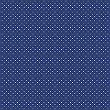 Baumwollstoff Pünktchen Royal Blau Webware Meterware