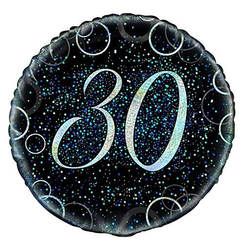 Unique Party 5580845,7cm Glitz Blau Folie 30. Geburtstag Ballon (30. Geburtstag Party-ideen Für Ihn)