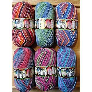 Opal / Sock Wool / 4 ply/thread / 6 x 100g. / ABO - 03.2018 / Stockings/Socks / Socks