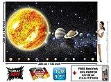 GREAT ART Foto Mural Planetas del Sistema Solar Tapíz de Galaxia y Cosmos Póster del Universo y Estrellas (336x238 cm)