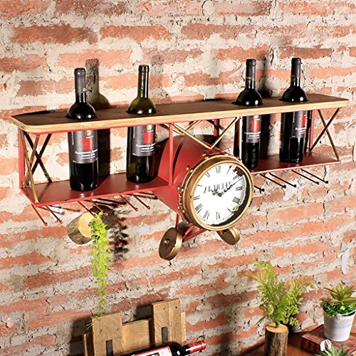 FAFZ Cadre du vin rouge Fer Mur suspendu Vent industriel Retro Gaufrier en fer Mur décoré Bar Restaurant Décoration murale Creative Wine Racks Rack Porte-vins ( Couleur : Rouge )